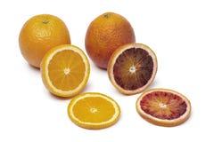 Sinaasappel en bloedsinaasappel Stock Afbeeldingen