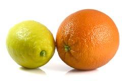 Sinaasappel en Citroen Stock Afbeelding