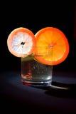 Sinaasappel en citroen op glas #3 Stock Foto's