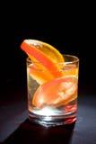 Sinaasappel en citroen op glas #4 Royalty-vrije Stock Fotografie