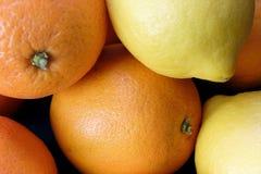 Sinaasappel en citroenen Stock Afbeelding