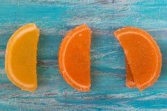 Sinaasappel en citroengelei Royalty-vrije Stock Foto