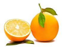 Sinaasappel en Half Royalty-vrije Stock Afbeeldingen