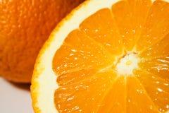 Sinaasappel en jus d'orange Stock Foto's