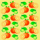 Sinaasappel en kalk naadloze achtergrond Stock Afbeelding