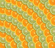 Sinaasappel en kalkplakken Stock Afbeelding