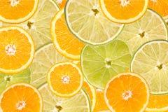 Sinaasappel en Kalkplaksamenvatting Stock Afbeelding