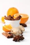 Sinaasappel en kruiden royalty-vrije stock afbeelding