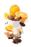 Sinaasappel en kruiden stock fotografie