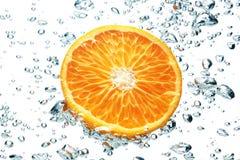 Sinaasappel en luchtbellen Royalty-vrije Stock Foto's