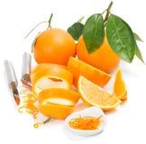 Sinaasappel en schil royalty-vrije stock fotografie