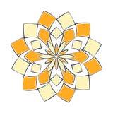 Sinaasappel en yelllow lotusbloem royalty-vrije stock foto