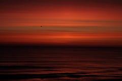 Sinaasappel geschilderde zonsopgang Royalty-vrije Stock Foto