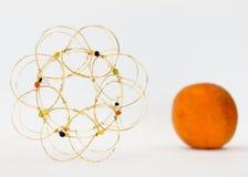 Sinaasappel lightbox Stock Afbeeldingen