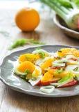 Sinaasappel met Apple en Venkelsalade royalty-vrije stock afbeeldingen