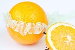 Sinaasappel met band Stock Afbeeldingen