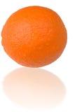 Sinaasappel met bezinning Stock Afbeelding