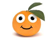 Sinaasappel met gezicht Stock Afbeelding