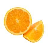 Sinaasappel op een witte achtergrond Royalty-vrije Stock Foto's