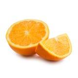Sinaasappel op een witte achtergrond Royalty-vrije Stock Fotografie