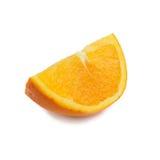 Sinaasappel op een witte achtergrond Stock Afbeeldingen