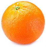 Sinaasappel op een witte achtergrond Stock Foto's
