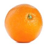 Sinaasappel op geïsoleerdek witte achtergrond Stock Foto