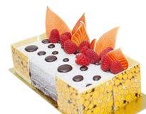 Sinaasappel op smaak gebrachte chocoladecake Stock Afbeeldingen