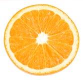 Sinaasappel op wit met weg Royalty-vrije Stock Afbeelding