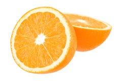Sinaasappel op wit met weg Stock Foto's