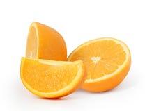 Sinaasappel op witte achtergrond Stock Afbeelding