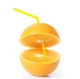 Sinaasappel op witte achtergrond Stock Foto