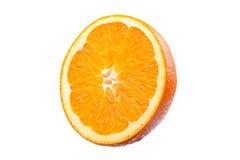 Sinaasappel op witte achtergrond Stock Fotografie