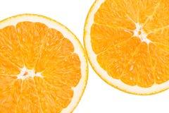 Sinaasappel op witte achtergrond Royalty-vrije Stock Foto's