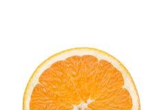 Sinaasappel op witte achtergrond Stock Afbeeldingen