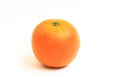 Sinaasappel op witte achtergrond wordt geïsoleerd die Stock Fotografie