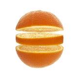 Sinaasappel, Plak, Fruit, Citrusvruchten, Dwarsdoorsnede Stock Afbeelding