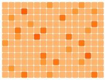 Sinaasappel rond gemaakte rechthoeken. Vector art. stock illustratie