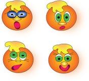 Sinaasappel smileys Stock Foto