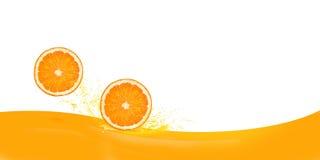 Sinaasappel twee Royalty-vrije Stock Afbeeldingen