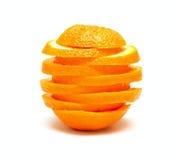 Sinaasappel van segmenten Stock Afbeelding