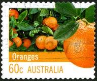 Sinaasappelen Australische Postzegel Royalty-vrije Stock Afbeelding