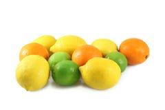 sinaasappelen, citroenen, kalk Stock Foto's