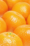 Sinaasappelen of clementines stock foto's