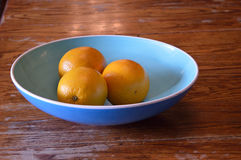 Sinaasappelen in een kom Royalty-vrije Stock Foto