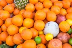Sinaasappelen en andere vruchten Royalty-vrije Stock Foto's
