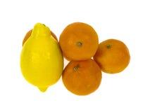 Sinaasappelen en citroen Royalty-vrije Stock Foto's