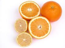 Sinaasappelen en citroen stock foto