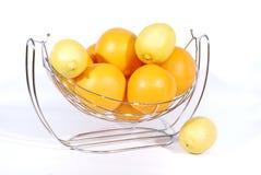 Sinaasappelen en citroenen Royalty-vrije Stock Afbeeldingen