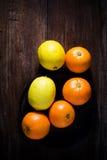 Sinaasappelen en citroenen Stock Foto